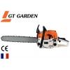 Tronçonneuse thermique GT GARDEN, 52 cm3, 3 CV, guide 45 cm, 2 chaînes