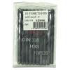 Forets à metaux HSS taillé meulé diamètre 2 mm par lot de 10