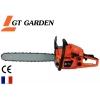 Tronçonneuse thermique GT GARDEN, 58 cm3, 3.5 CV, guide 50 cm, 2 chaînes