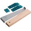 Wolfcraft 6931000 Kit de pose de parquet stratifié 20 cales de dilatation / tire-lame / cale de frappe