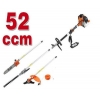 Fuxtec appareil multi fonction 4en1 / 52CM3 tronçonneuse , debroussailleuse , faucheuse , taille haie