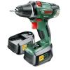 Bosch 0603973301 Perceuse-visseuse sans fil Lithium Ion 2 batteries Coffret PSR 18 LI-2