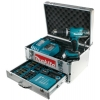 Makita BHP453RHEX5 Coffret perceuse-visseuse sans fil Batterie Li-Ion 18 V Coffret alu 96 pièces