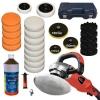 TecTake Machine à polir polisseuse rectifieuse 0-3000 1400 watt + set 10 1 litre de pâte de ponçage