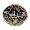 Miroir de Poche Nacre Maquillage Grossissant Tradition Asie Corée ANIMAUX FORET