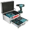 Makita BDF343RHEX5 Perceuse-visseuse sans-fil 14,4 V avec coffret alu 96 accessoires et 2 batteries incluses (Import Allemagne)