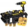 Dewalt DCD730C2KX-QW – Perceuse-visseuse et set de 112 accessoires – 14,4 V (Import Allemagne)