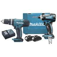 Ensemble 2 machines MAKITA – 18V – Perceuse-Visseuse + Visseuse a choc – DK18026