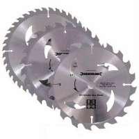 Silverline 801292 Lot de 3 lames scie circulaire carbure de tungstène 184 x 30 mm Bagues de 20 et 16 mm