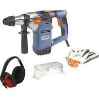 marteau piqueur perforateur burineur 1500w electro-pneumatique + accessoires sds meches et burins
