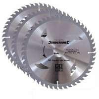 Silverline 690459 3 lames TCT pour scie circulaire 210 x 30 mm – bagues de 25 et 16 mm