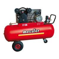 Mecafer 425192 Compresseur 150 L 3 hp v fonte