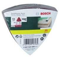 Bosch 2607019500 Lot de feuilles abrasives pour Ponceuse Delta Grain 60-240 25 pièces