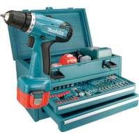 Makita 6271DWAET2 Coffret perceuse sans fil 2 vitesses 2 batteries 2 Ah 55 pièces (Import Allemagne)
