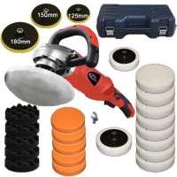 TecTake Machine à polir 1400 watt polisseuse rectifieuse 0-3000 r/min + set 8